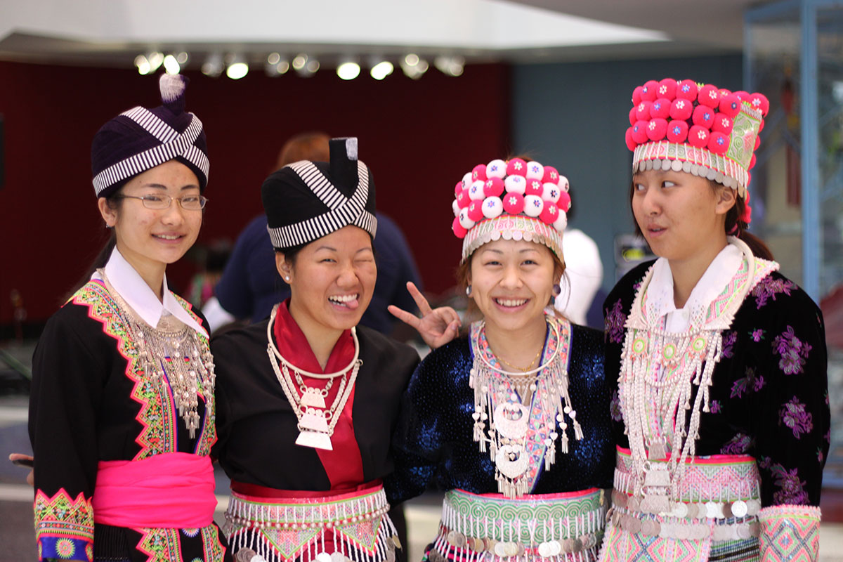 Modeling Hmong clothes at the UNC Hospitals Multicultural Fair
